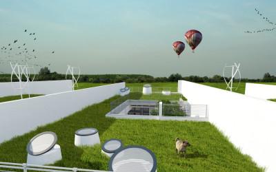 Zeleni krov na kući