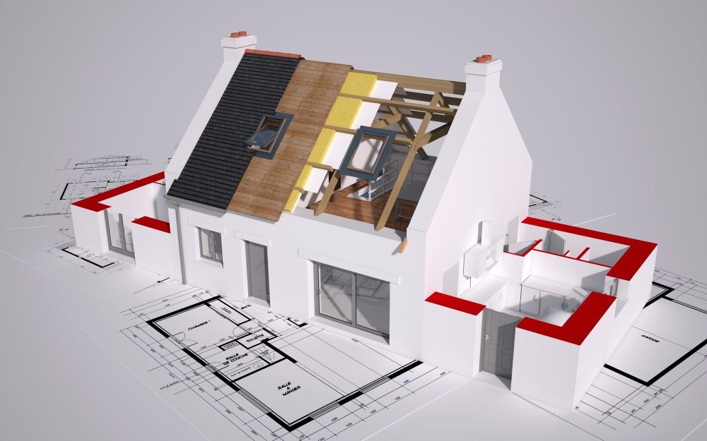 crtež modularne gradnje kuće